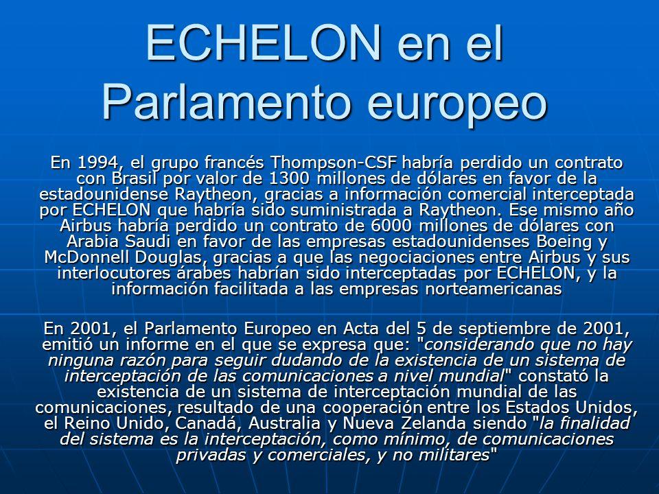 ECHELON en el Parlamento europeo