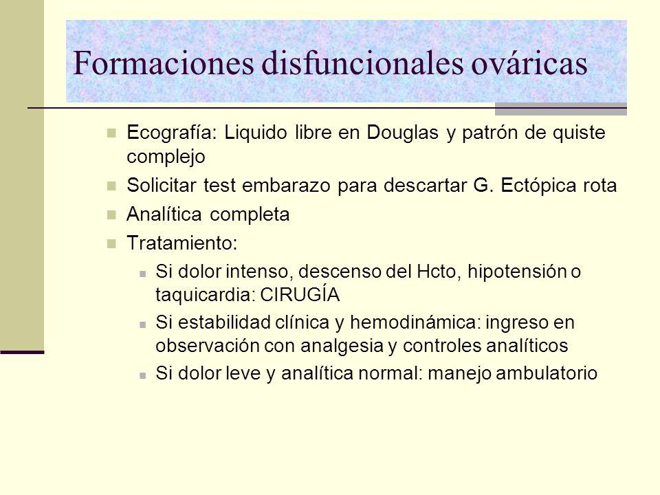 Formaciones disfuncionales ováricas