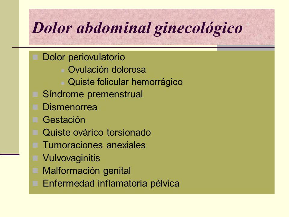 Dolor abdominal ginecológico