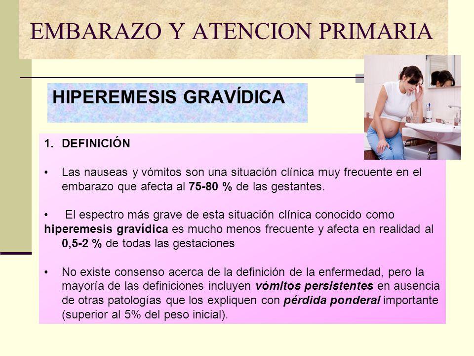 EMBARAZO Y ATENCION PRIMARIA