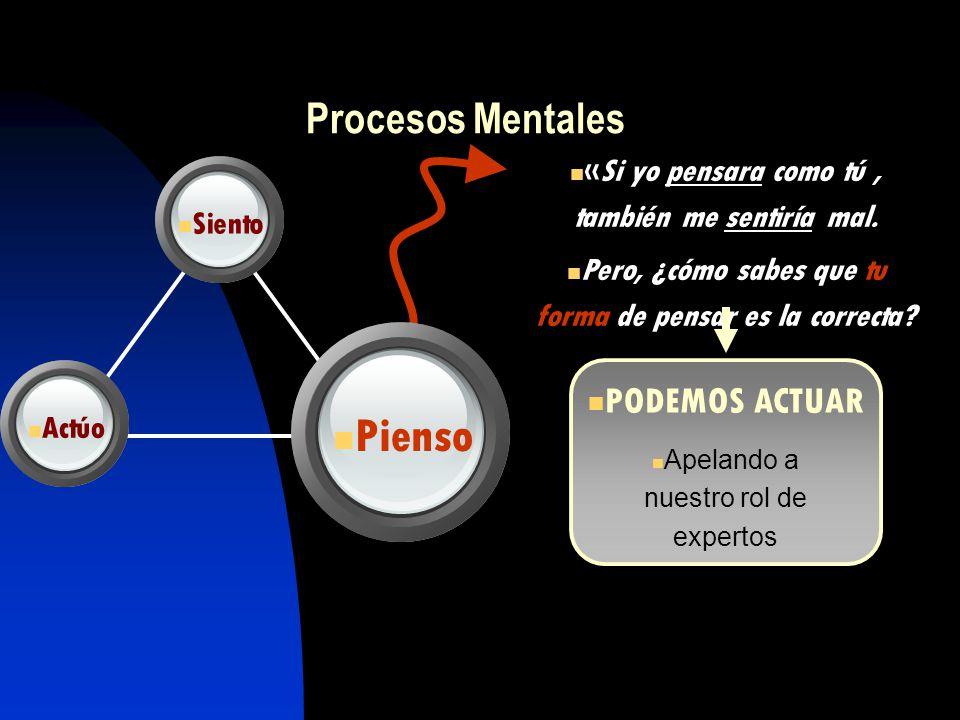 Pienso Procesos Mentales PODEMOS ACTUAR