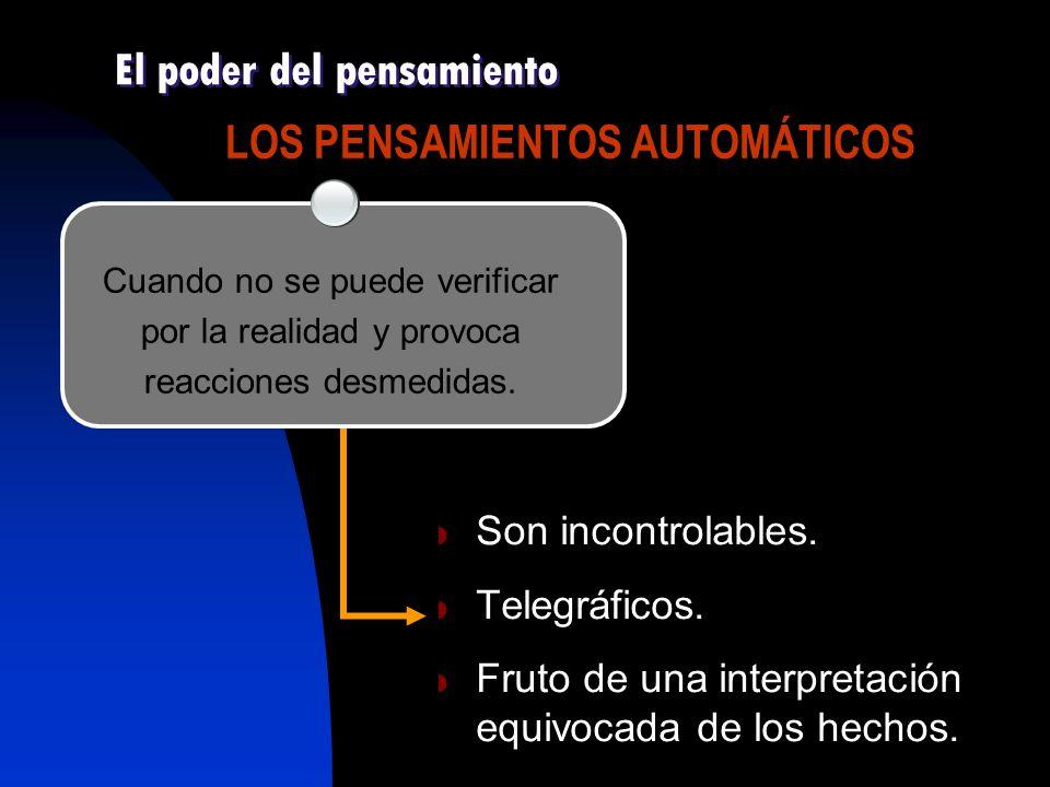 LOS PENSAMIENTOS AUTOMÁTICOS