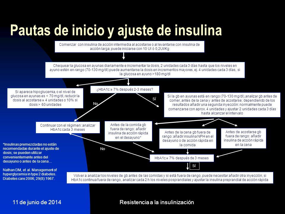 Pautas de inicio y ajuste de insulina