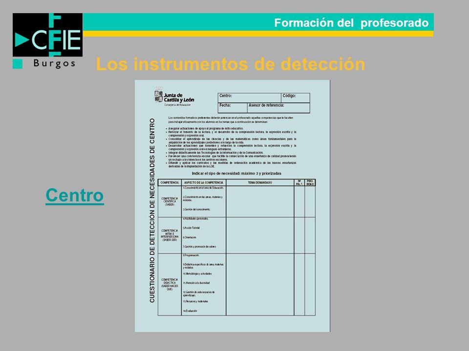 Los instrumentos de detección
