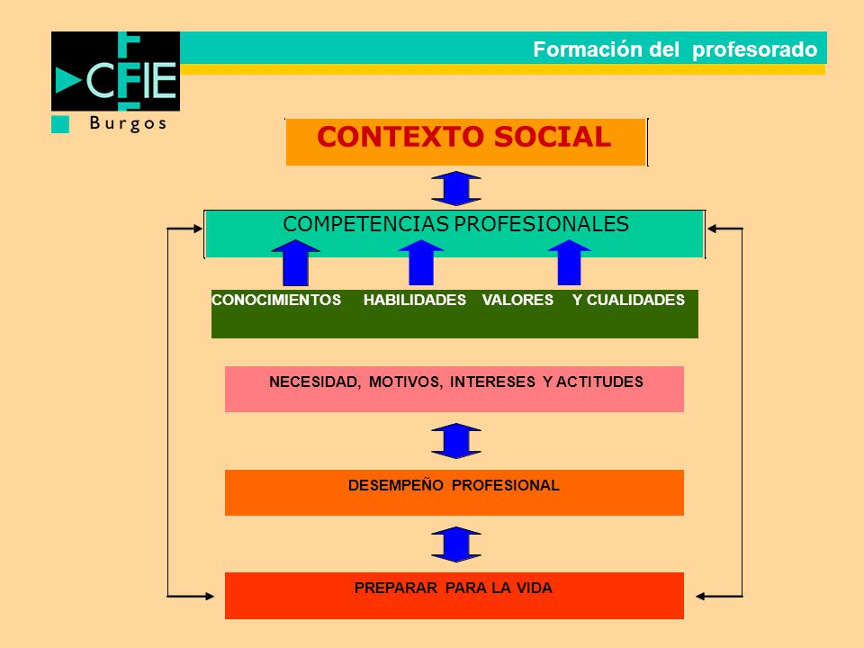 CONTEXTO SOCIAL COMPETENCIAS PROFESIONALES Formación del profesorado