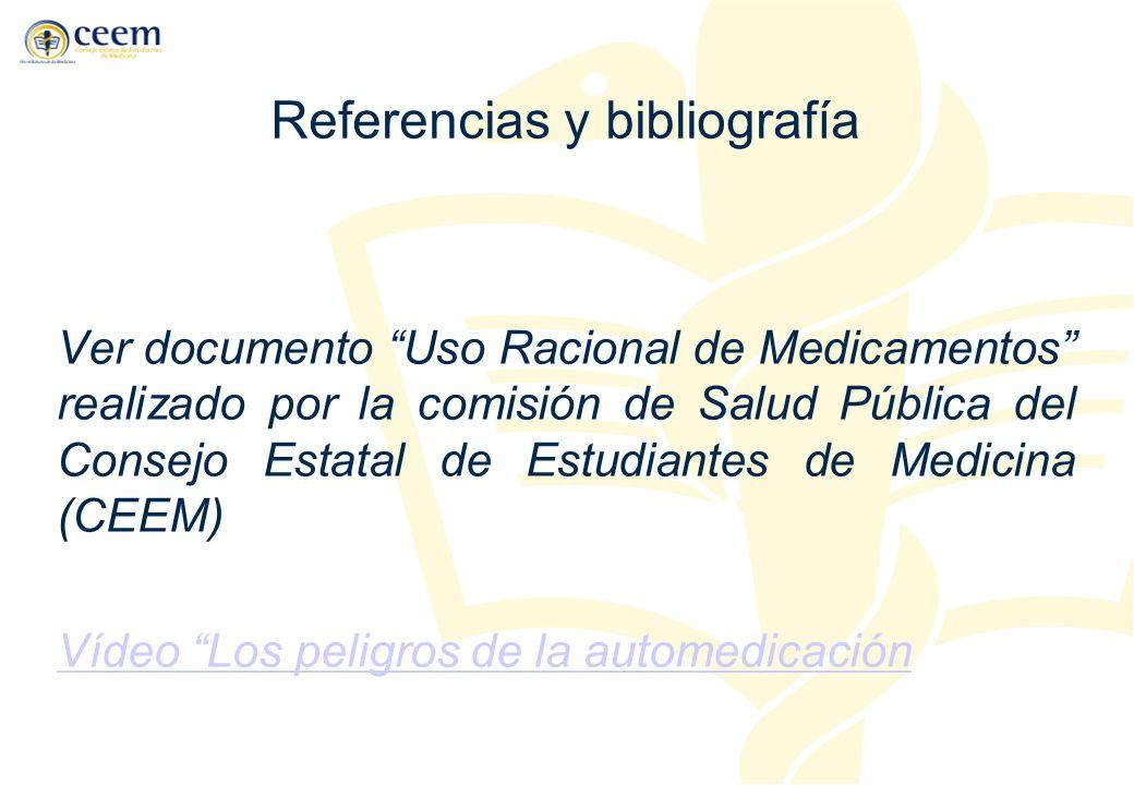 Referencias y bibliografía