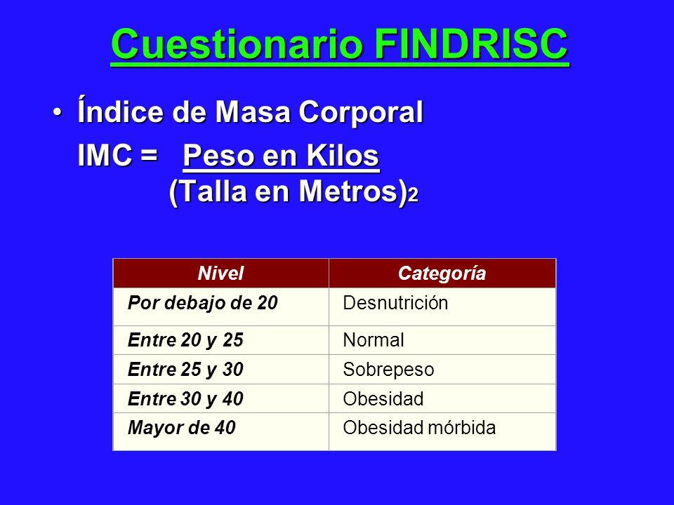 Cuestionario FINDRISC