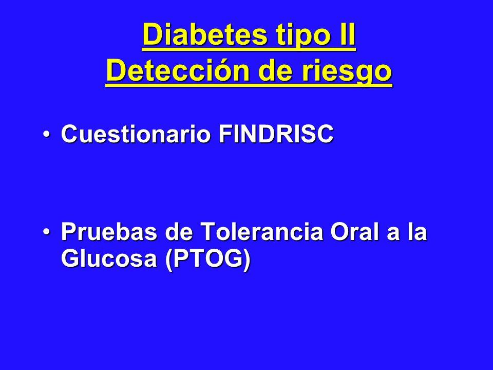 Diabetes tipo II Detección de riesgo