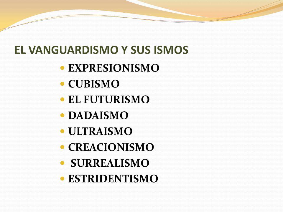 EL VANGUARDISMO Y SUS ISMOS