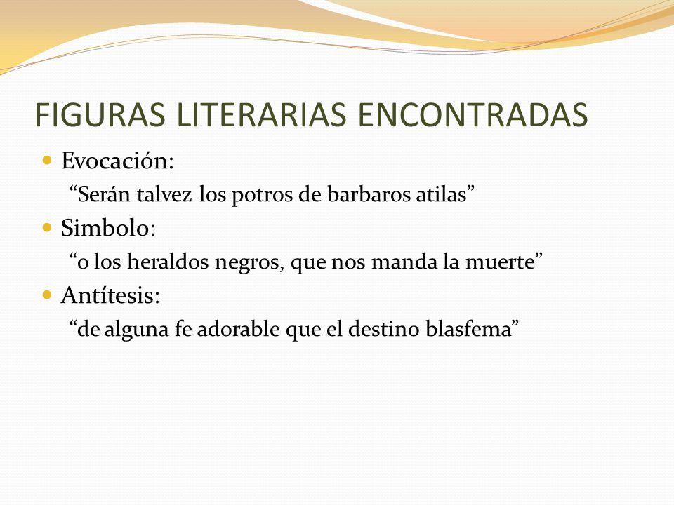 FIGURAS LITERARIAS ENCONTRADAS