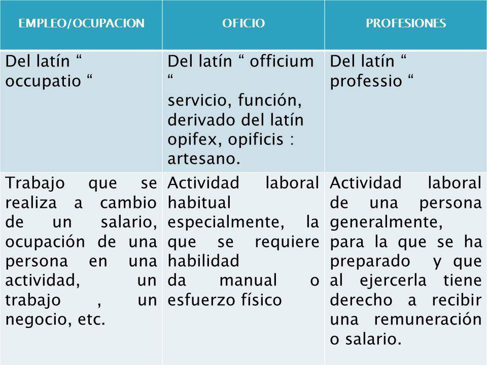 derivado del latín opifex, opificis : artesano.