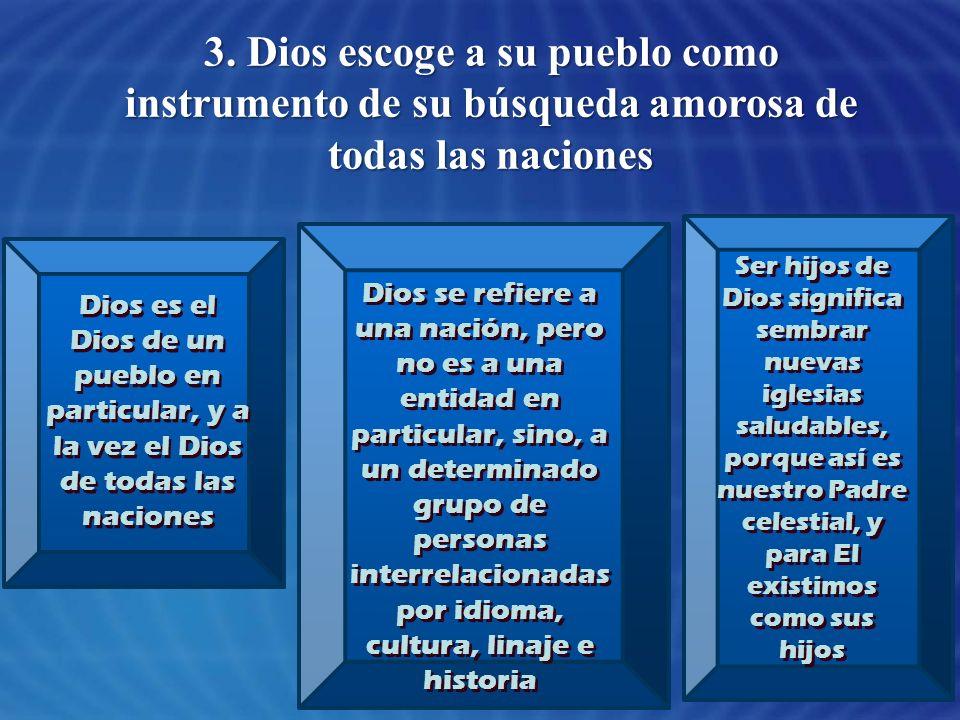 3. Dios escoge a su pueblo como instrumento de su búsqueda amorosa de todas las naciones