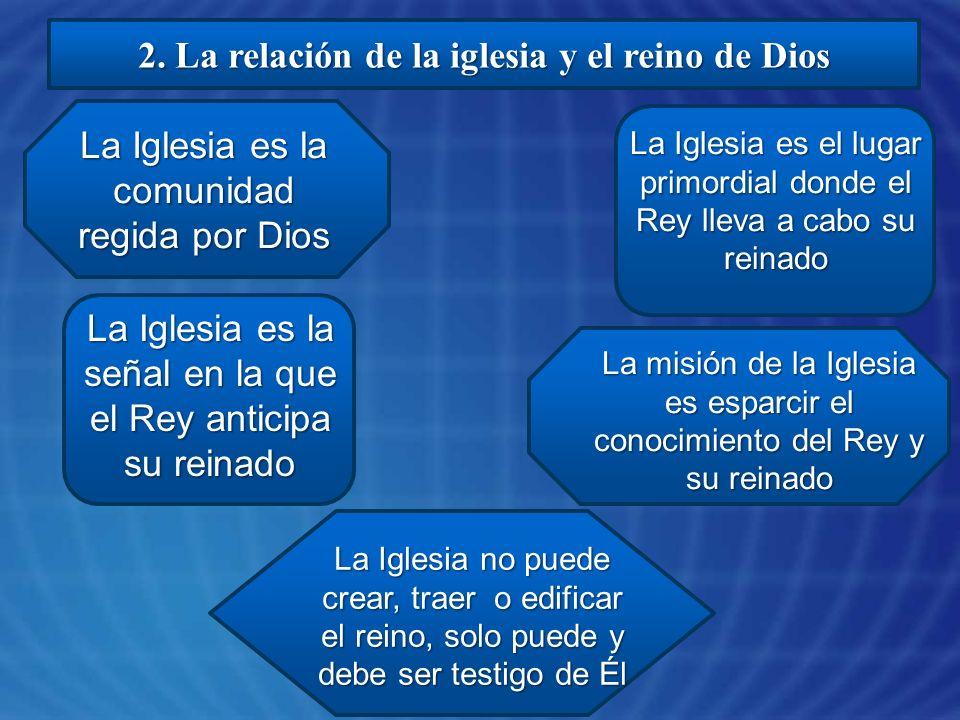 2. La relación de la iglesia y el reino de Dios