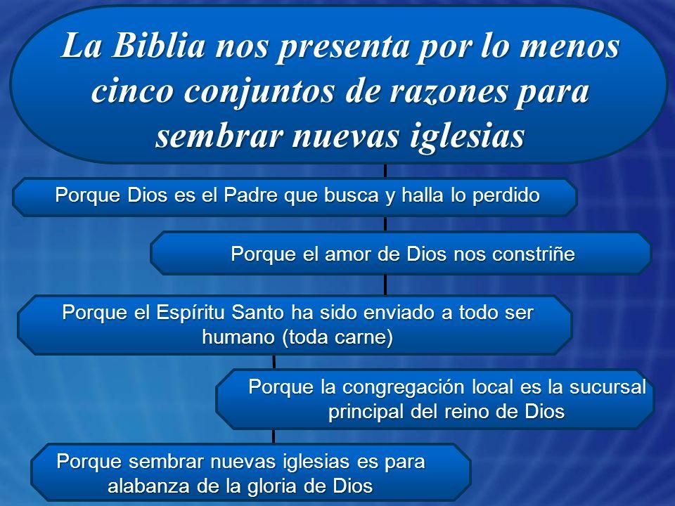 La Biblia nos presenta por lo menos cinco conjuntos de razones para sembrar nuevas iglesias