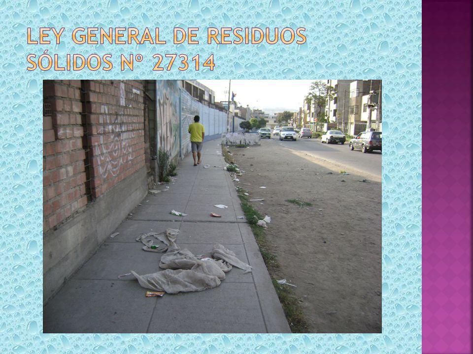 Ley general de residuos sólidos nº 27314