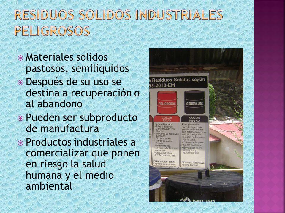 Residuos solidos industriales peligrosos