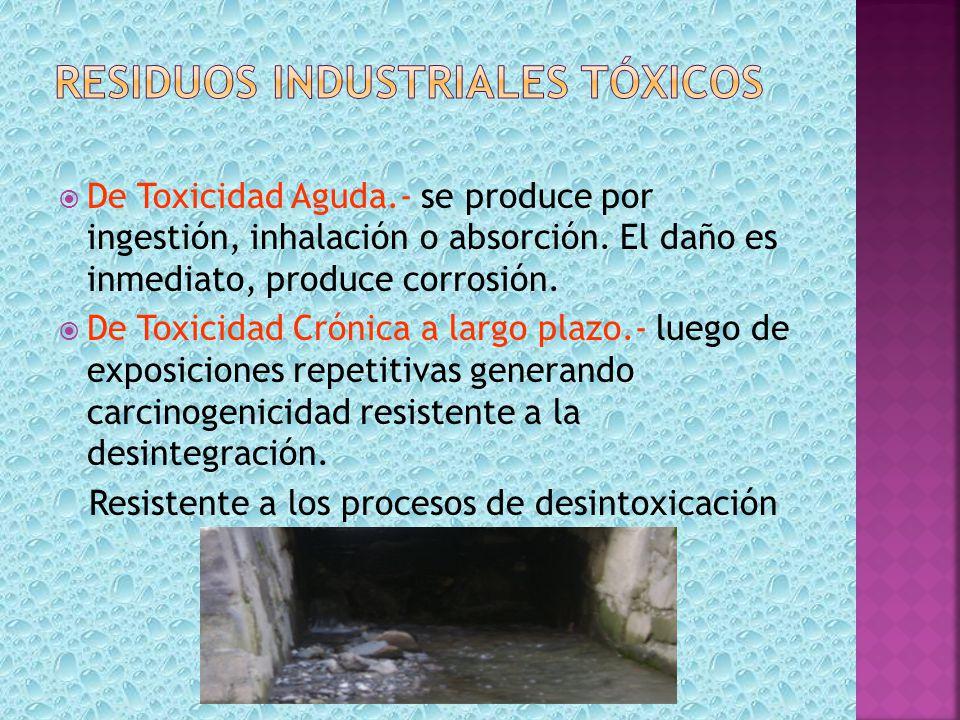 Residuos industriales tóxicos