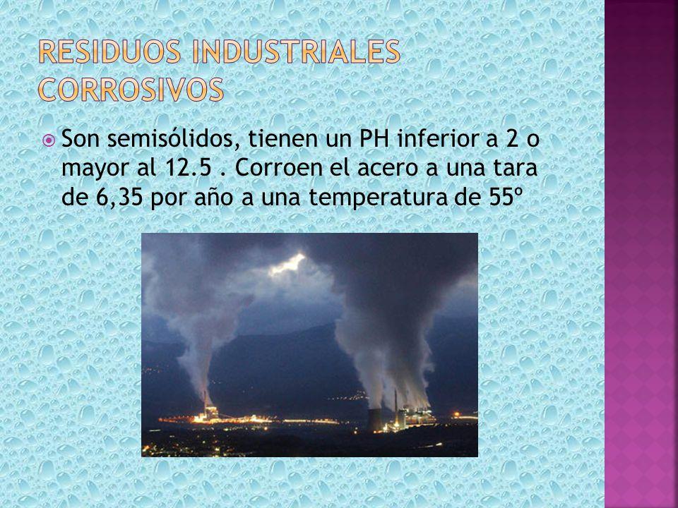 Residuos industriales corrosivos