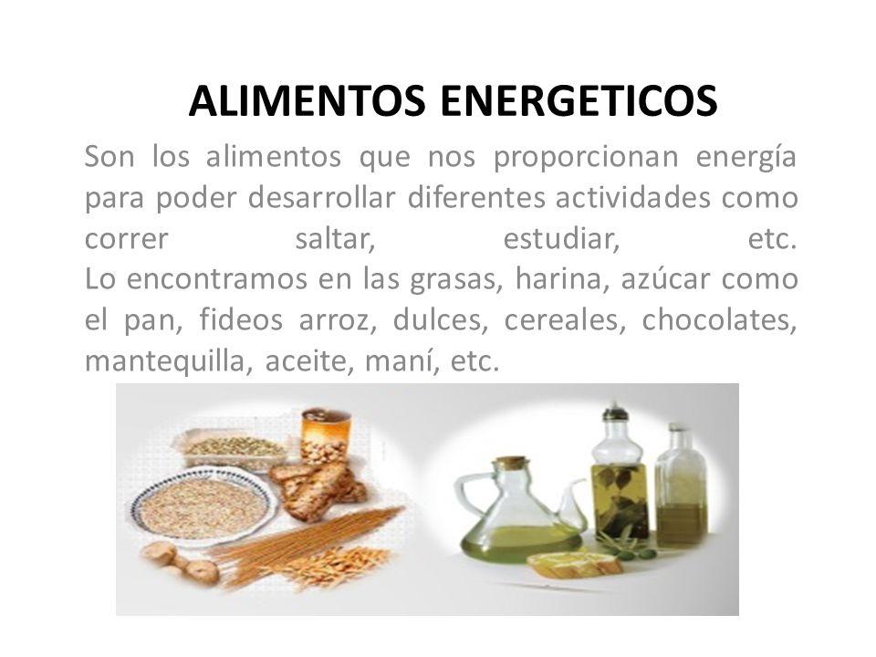 ALIMENTOS ENERGETICOS