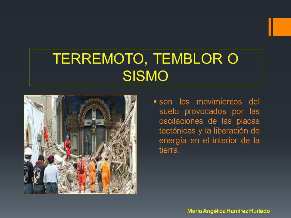 TERREMOTO, TEMBLOR O SISMO