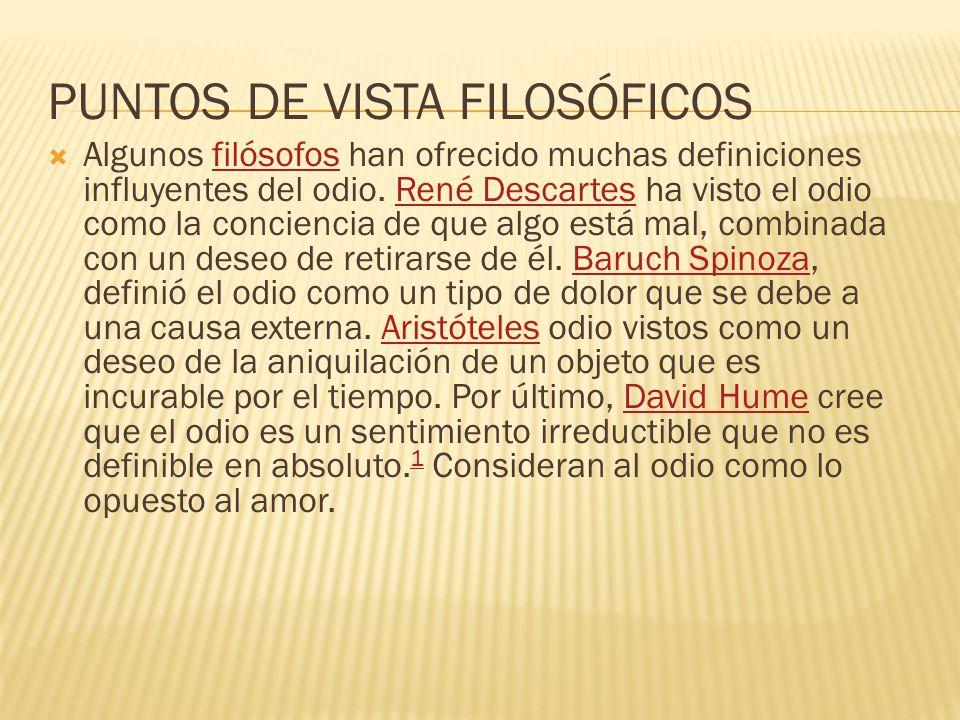 PUNTOS DE VISTA FILOSÓFICOS