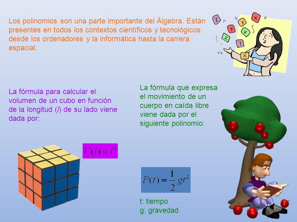 Los polinomios son una parte importante del Álgebra
