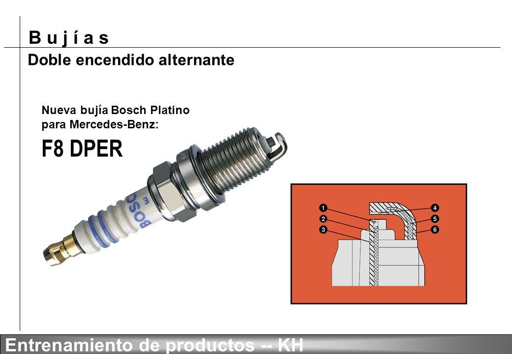 F8 DPER Doble encendido alternante Nueva bujía Bosch Platino