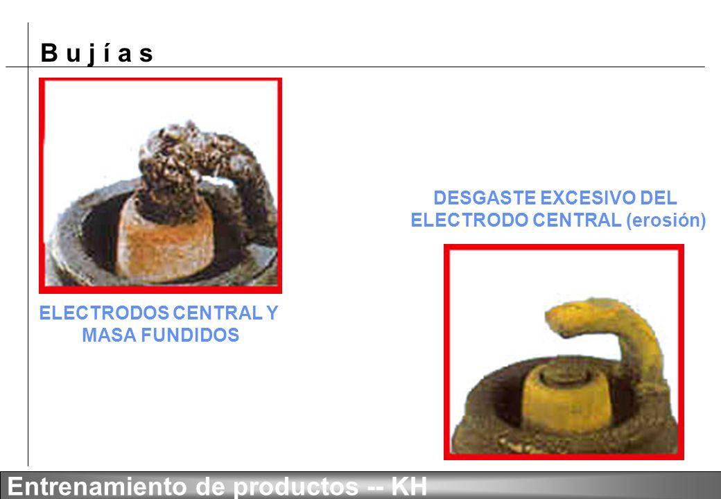 DESGASTE EXCESIVO DEL ELECTRODO CENTRAL (erosión)