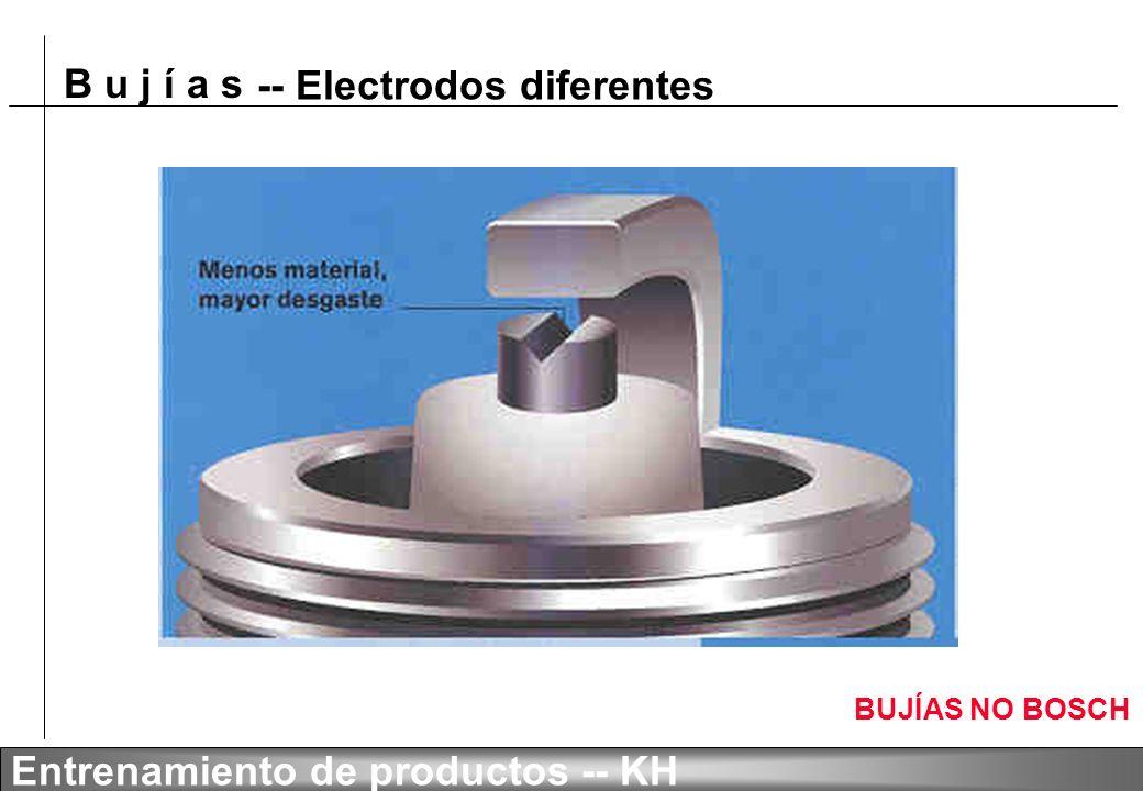 -- Electrodos diferentes