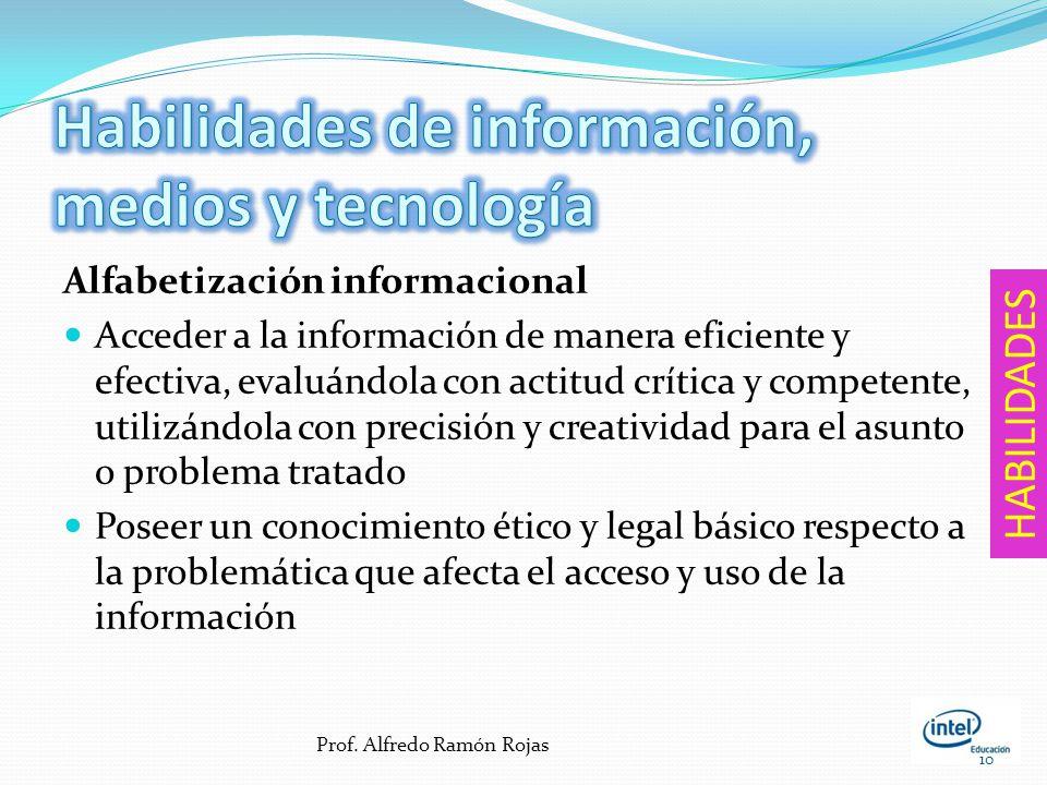 Habilidades de información, medios y tecnología