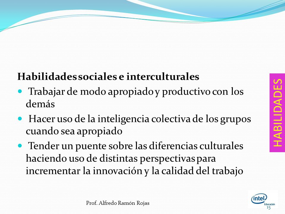 HABILIDADES Habilidades sociales e interculturales