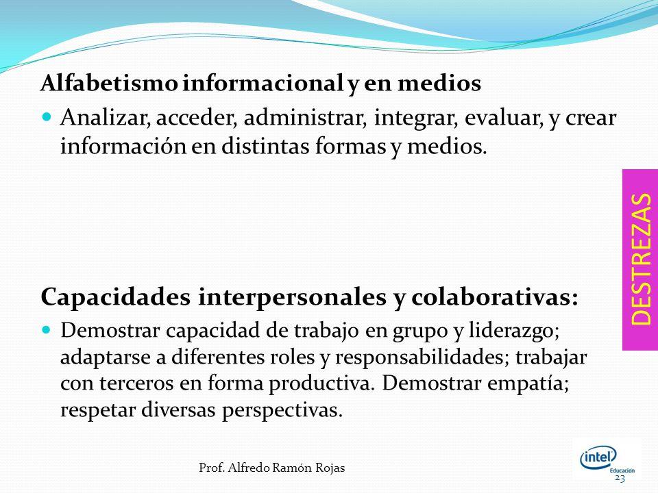 DESTREZAS Capacidades interpersonales y colaborativas: