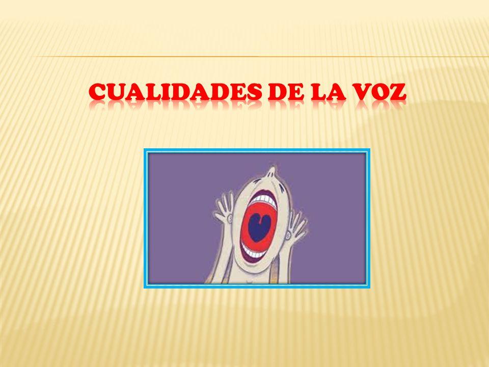 CUALIDADES DE LA VOZ