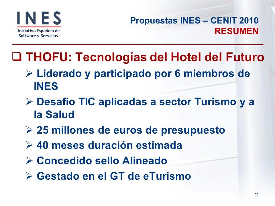 Propuestas INES – CENIT 2010 RESUMEN