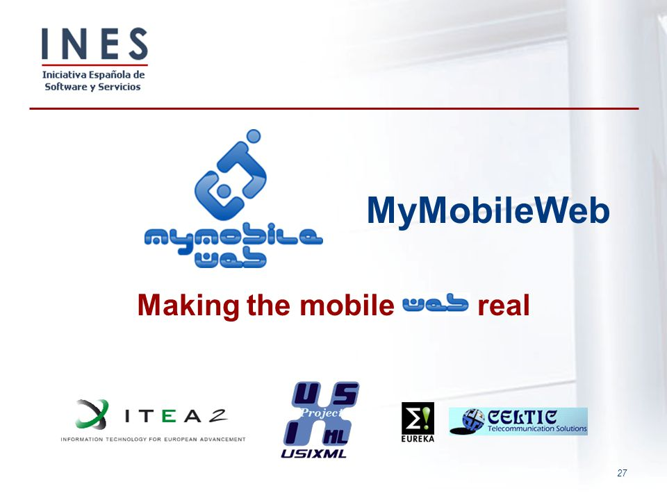 MyMobileWeb Making the mobile real