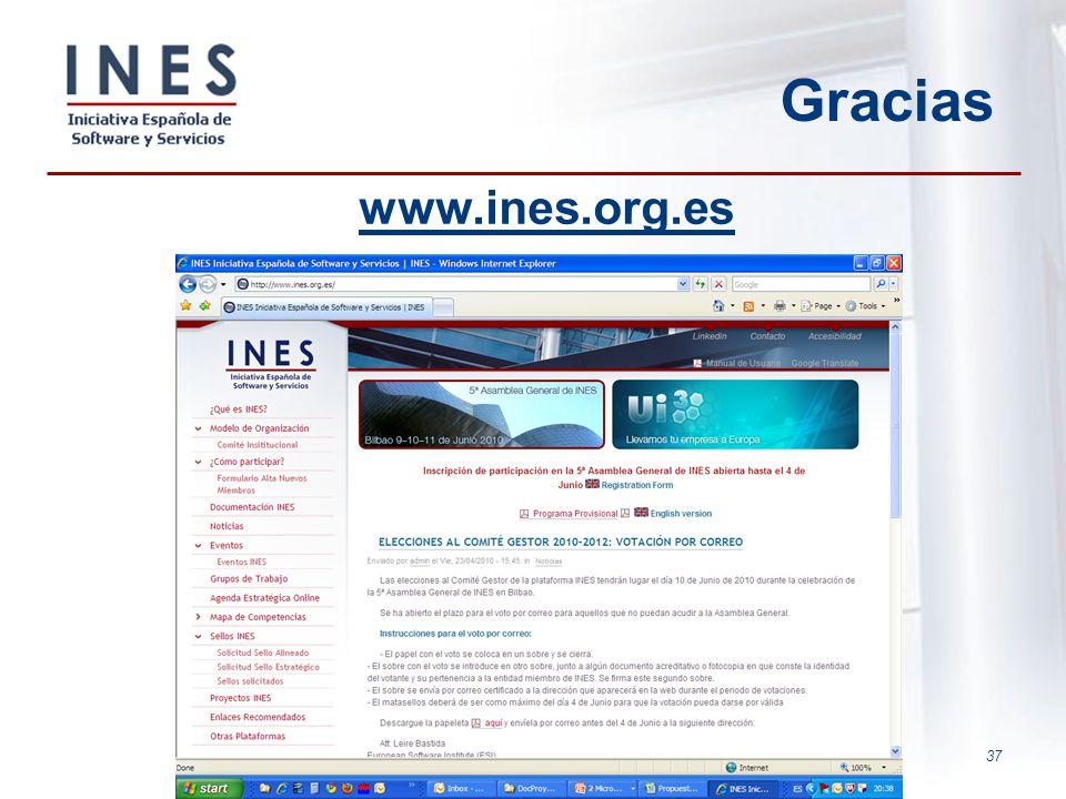 Gracias www.ines.org.es