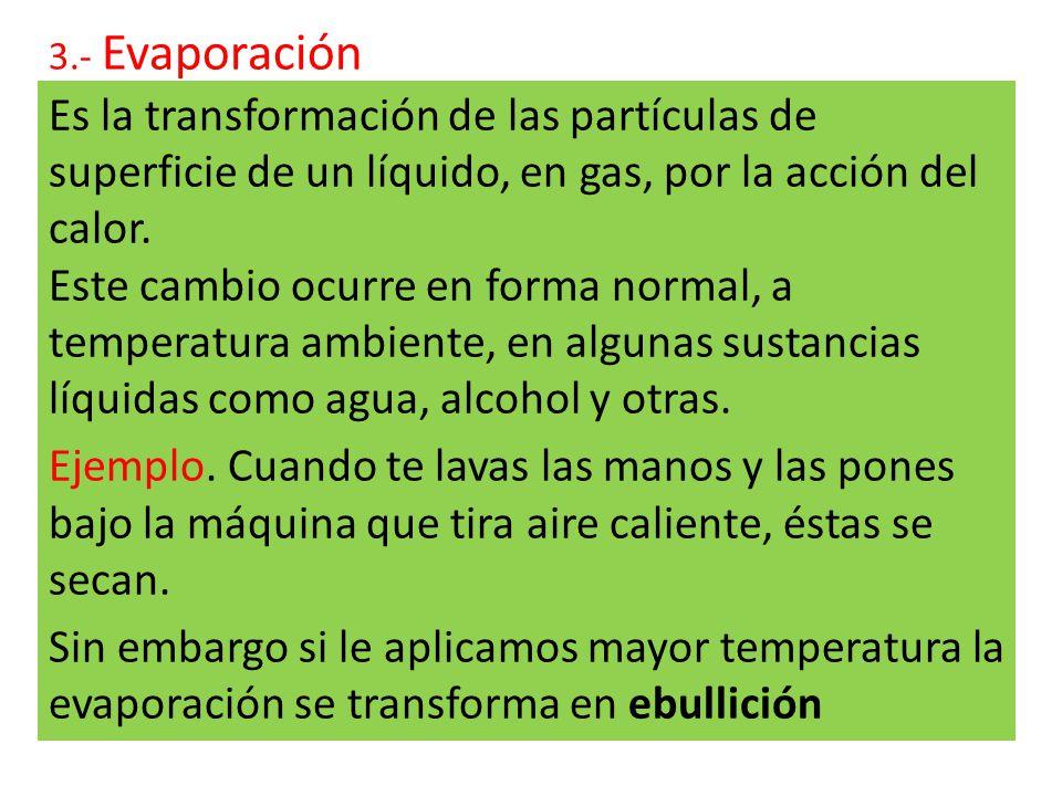 3.- Evaporación