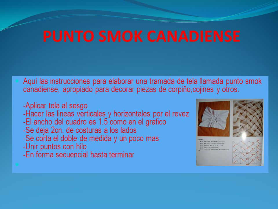 PUNTO SMOK CANADIENSE