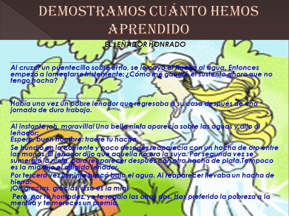 DEMOSTRAMOS CUÁNTO HEMOS APRENDIDO