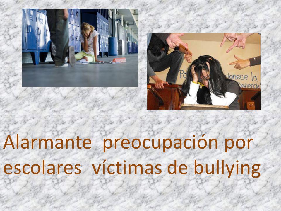 Alarmante preocupación por escolares víctimas de bullying