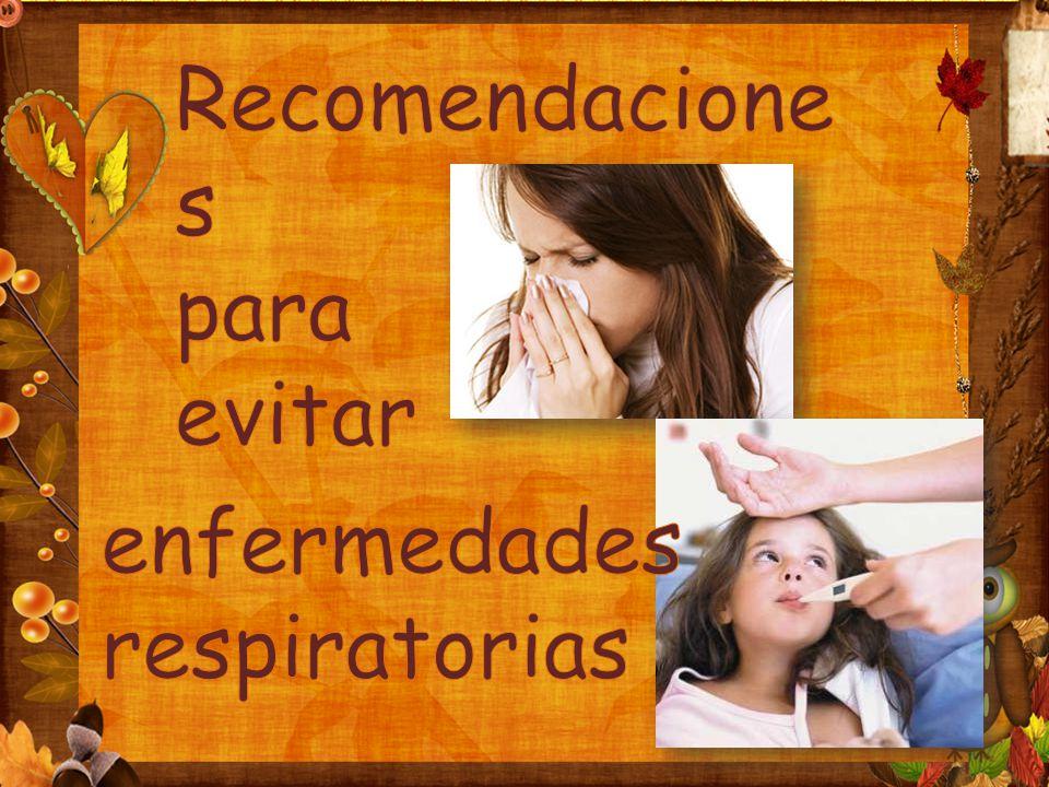 Recomendaciones para evitar enfermedades respiratorias