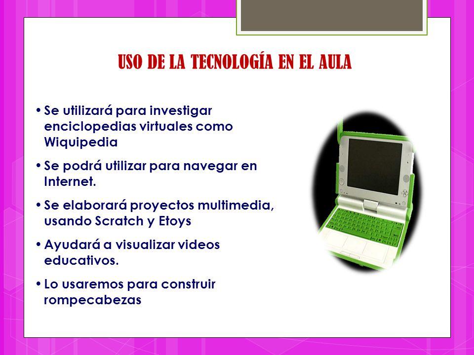 USO DE LA TECNOLOGÍA EN EL AULA