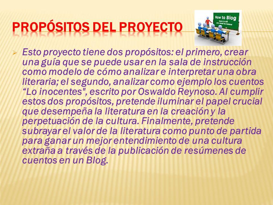 Propósitos del proyecto