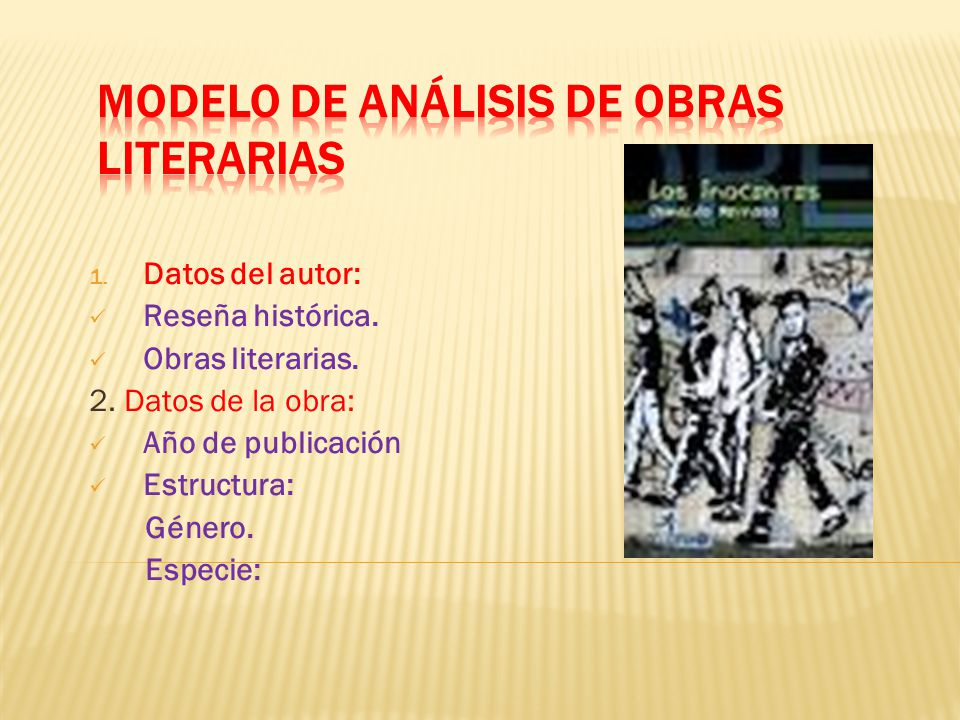 MODELO DE ANÁLISIS DE OBRAS LITERARIAS