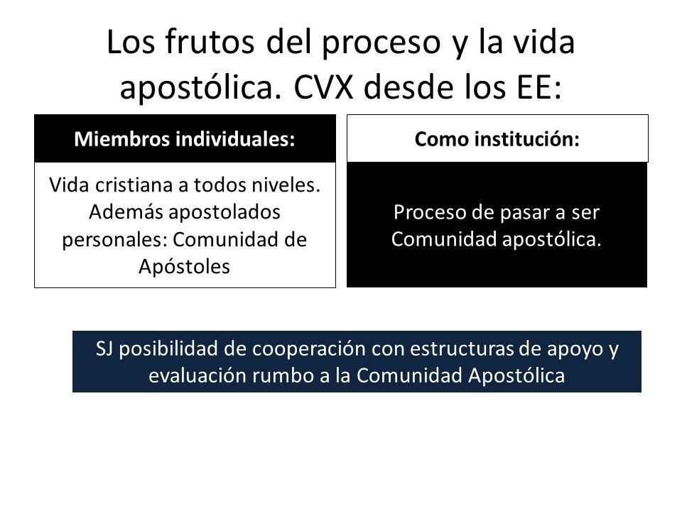 Los frutos del proceso y la vida apostólica. CVX desde los EE: