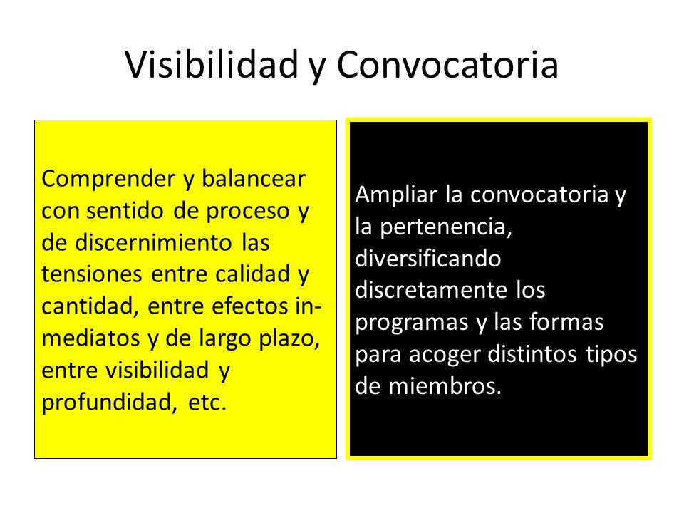 Visibilidad y Convocatoria