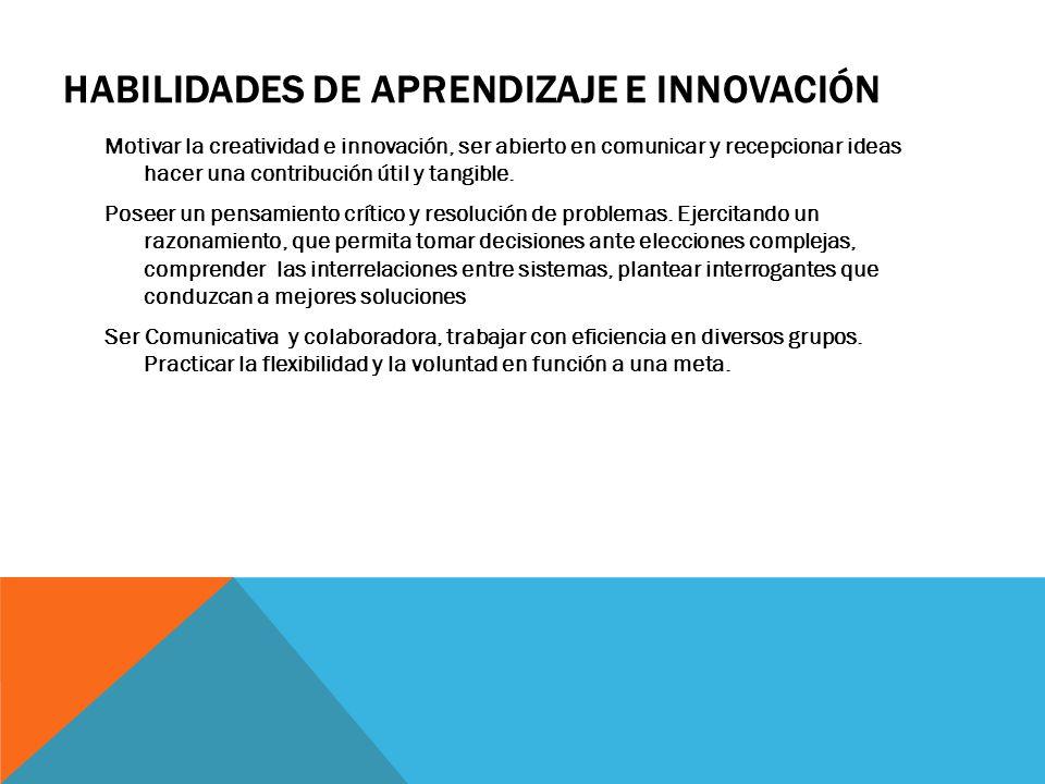 Habilidades de aprendizaje e innovación