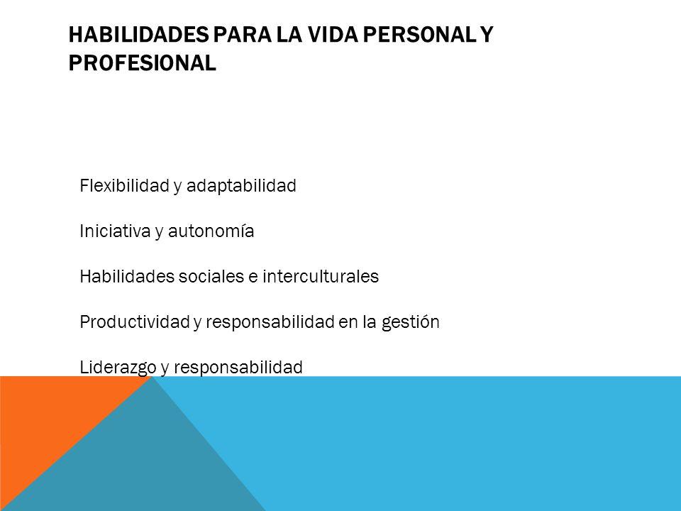 Habilidades para la vida personal y profesional