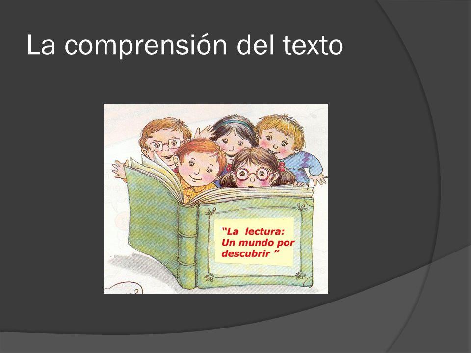 La comprensión del texto