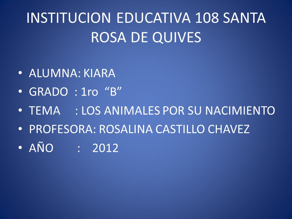 INSTITUCION EDUCATIVA 108 SANTA ROSA DE QUIVES